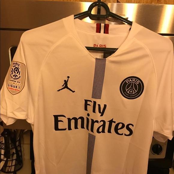 competitive price 4f7e5 e9cd2 Jordan PSG MBAPPÉ jersey (White) NWT